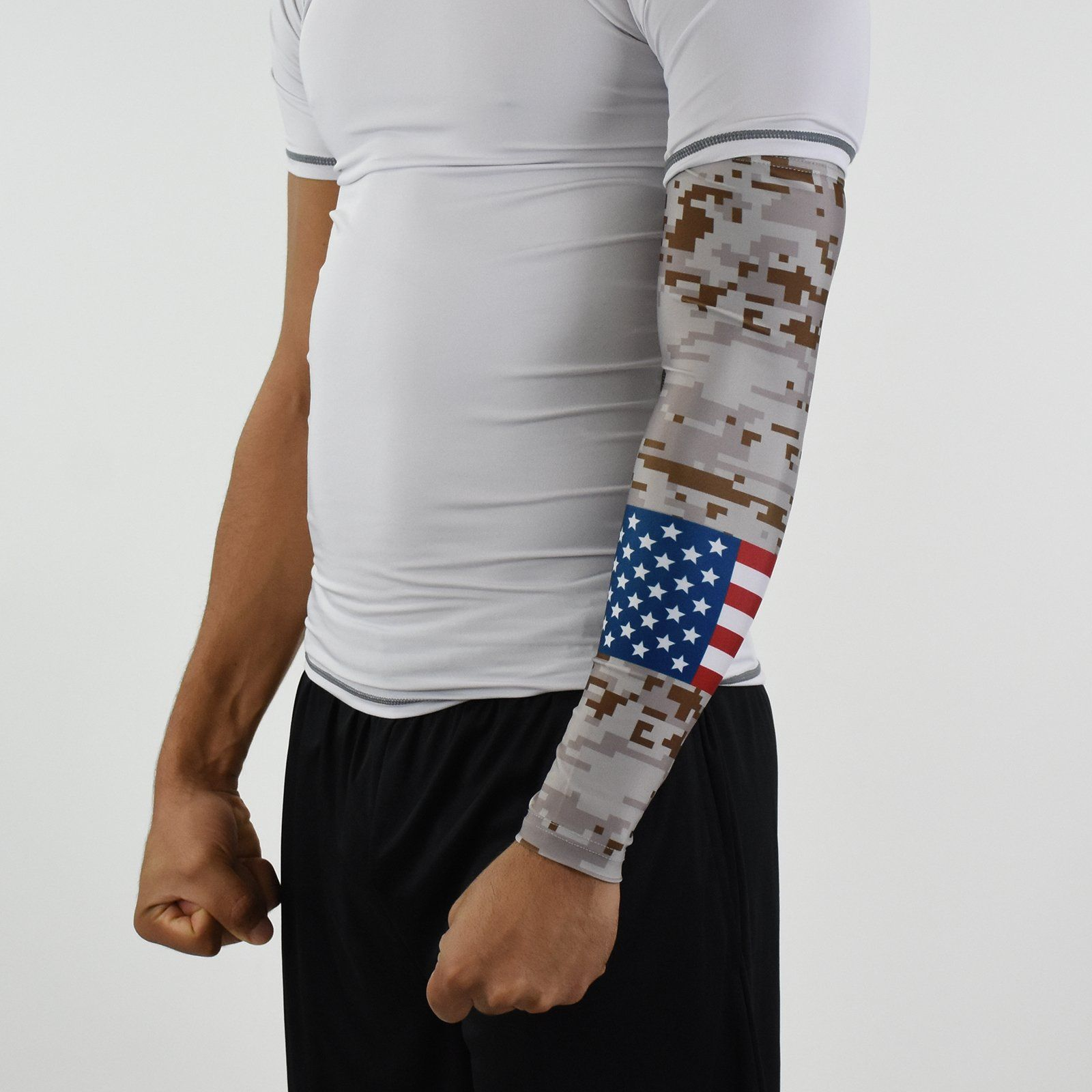4fd16543fd Digi Camo Desert USA Flag Arm Sleeve in 2019 | clothes | Compression ...