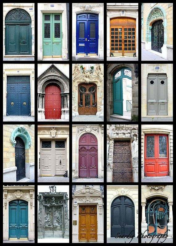 Parisian Doors. Doors of Paris France Door Collage by seardig & Paris Photography Parisian Doors Doors of Paris France Door ...