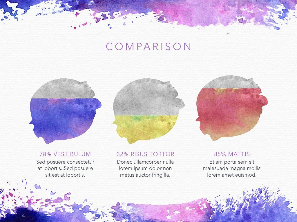 Watercolor Keynote Template Powerpoint Templates Powerpoint For Mac Creative Powerpoint Templates