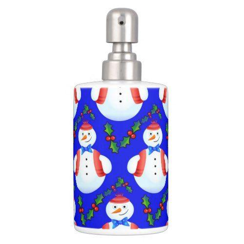 merry christmas soap dispenser u0026 toothbrush holder