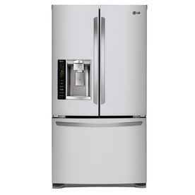 Shop Lg 24 7 Cu Ft French Door Refrigerator With D Lg French Door Refrigerator French Door Bottom Freezer Refrigerator Stainless Steel French Door Refrigerator
