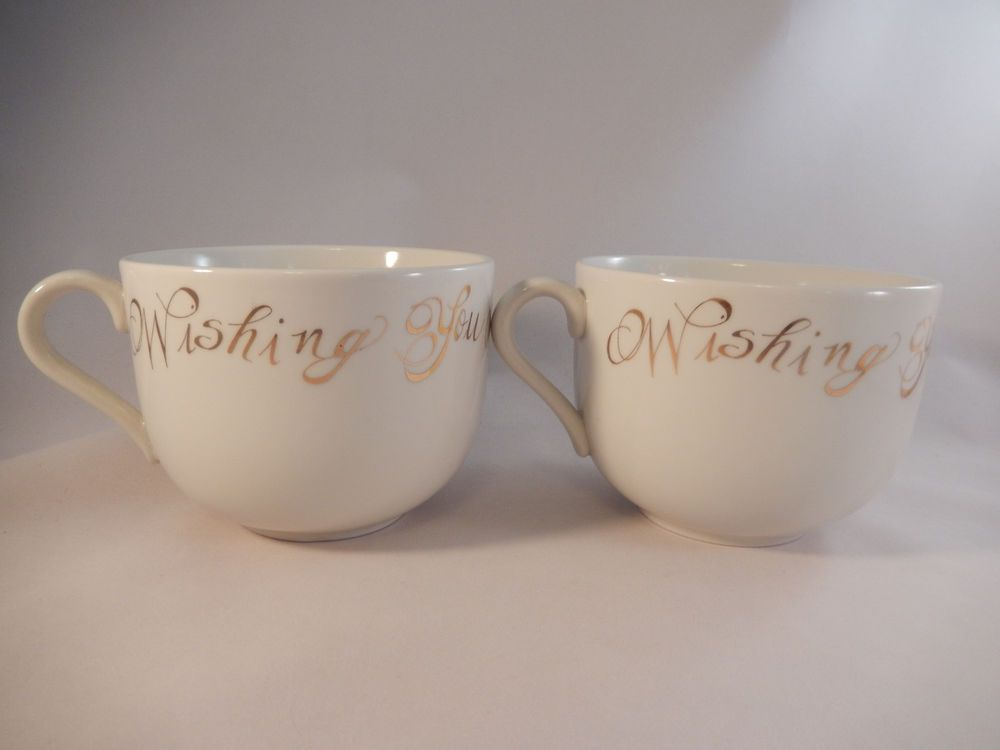 2 Coffee Mugs Designed By Rosanna For Target Wishing You A Merry Christmas & 2 Coffee Mugs Designed By Rosanna For Target Wishing You A Merry ...