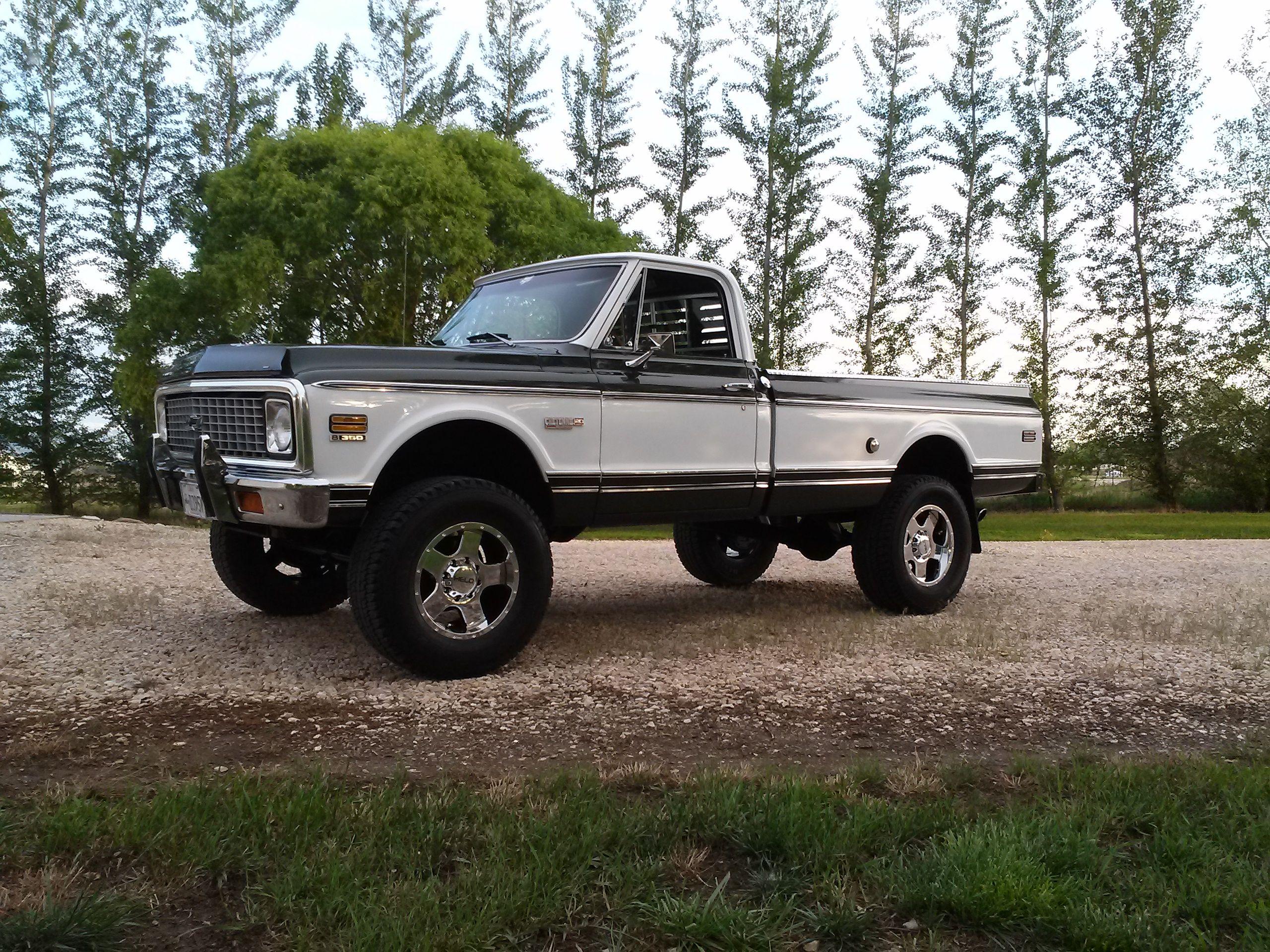"72 Cheyenne Super K20. 18"" Helo wheels, 35"" tires. | K ..."