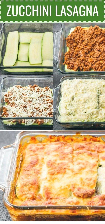Zucchini lasagna with ground beef  Keto Recipes