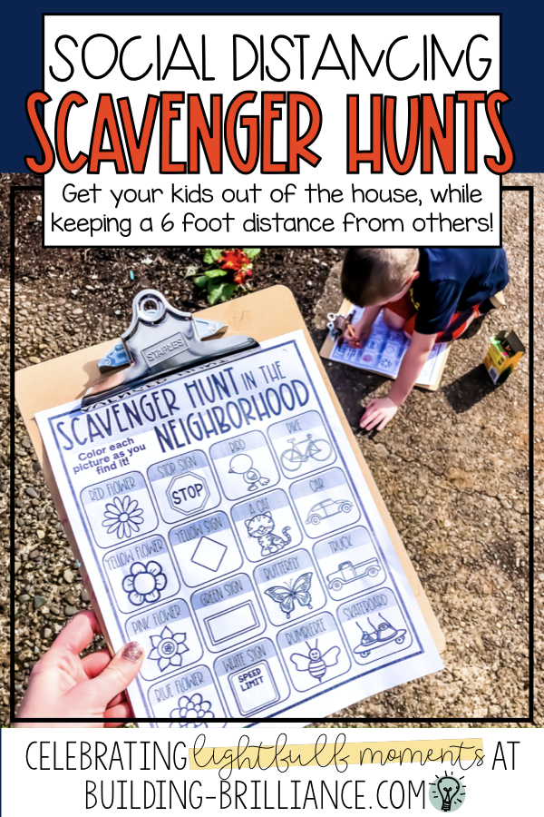 Social Distancing Scavenger Hunts Scavenger hunt for