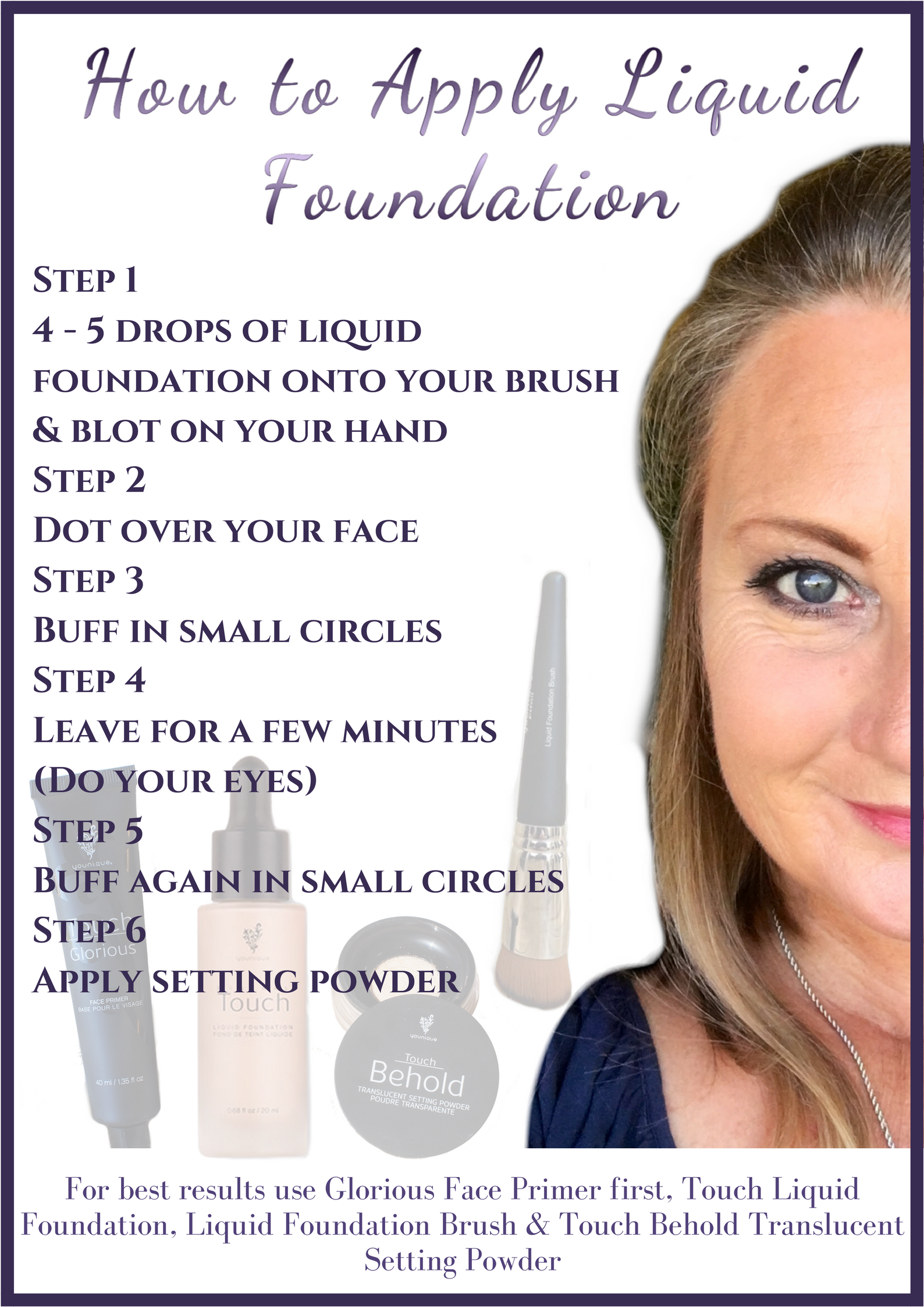 Applying Liquid Foundation  Younique beauty, Makeup tips lips