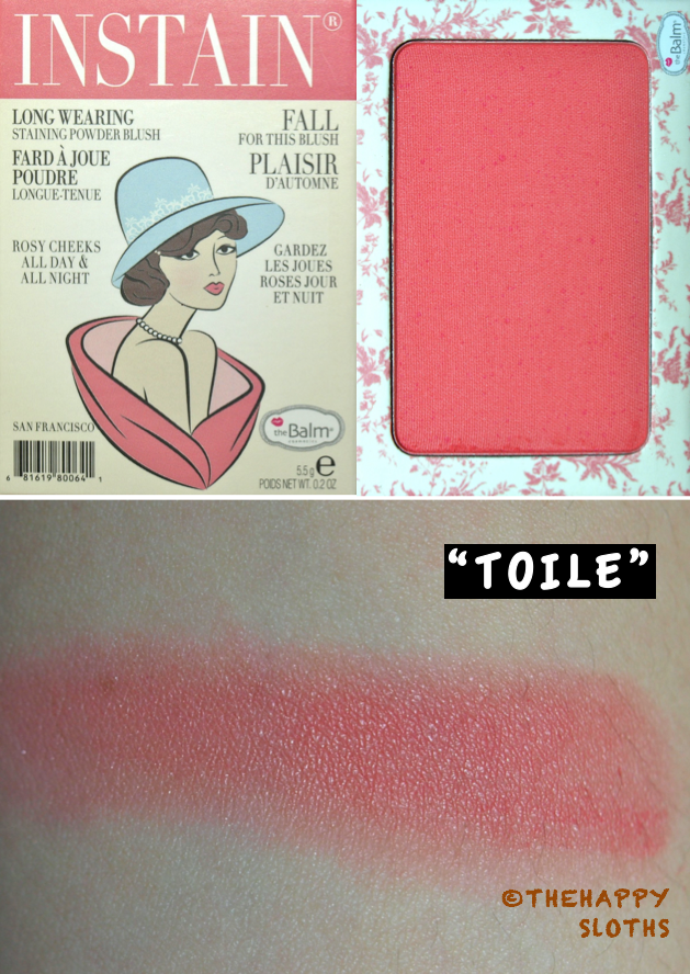 TheBalm Instain Blush in Toile: Review and Swatch