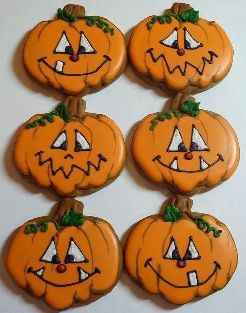 Pin by Paola Montañez on Halloween Calabazas 7 Pinterest - halloween pumpkin cookies decorating
