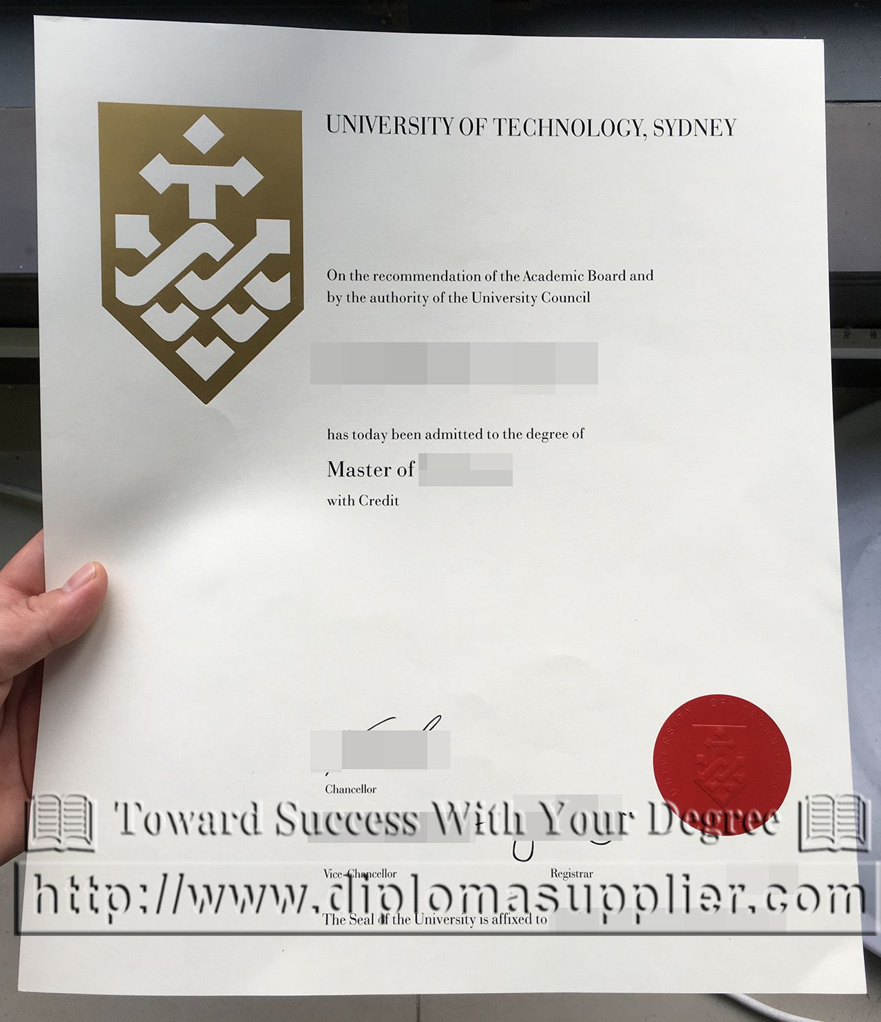 UTS fake degree, a master degree certificate from UTS, buy ...