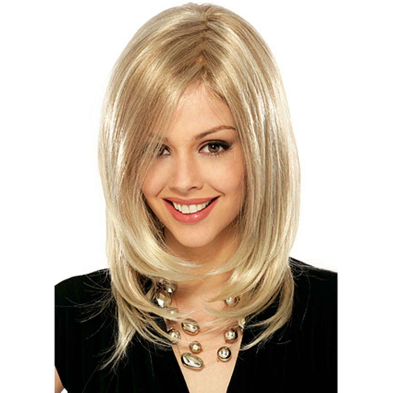 Fashion womens ladies cute short blonde fashion fluffy hair wig