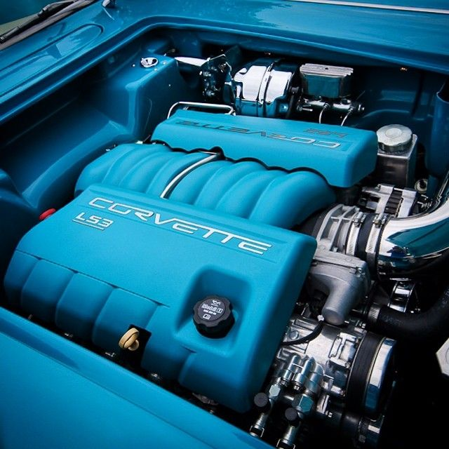 Ls3 Engine Meaning: Beautiful Corvette Protouring Style Engine Bay With An LS3