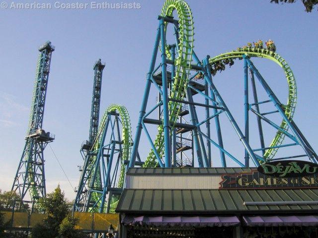 Deja Vu Six Flags Over Georgia Six Flags Roller Coaster Great America