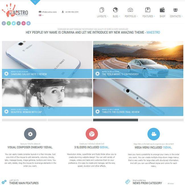 Maestro Business Instrument WordPress Theme | Best WordPress Themes ...