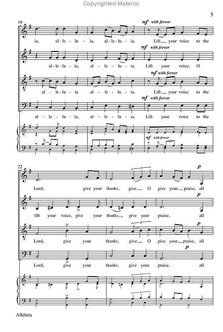 Alleluia Sheet Music By Andrew Miller Sheet Music Plus Sheet