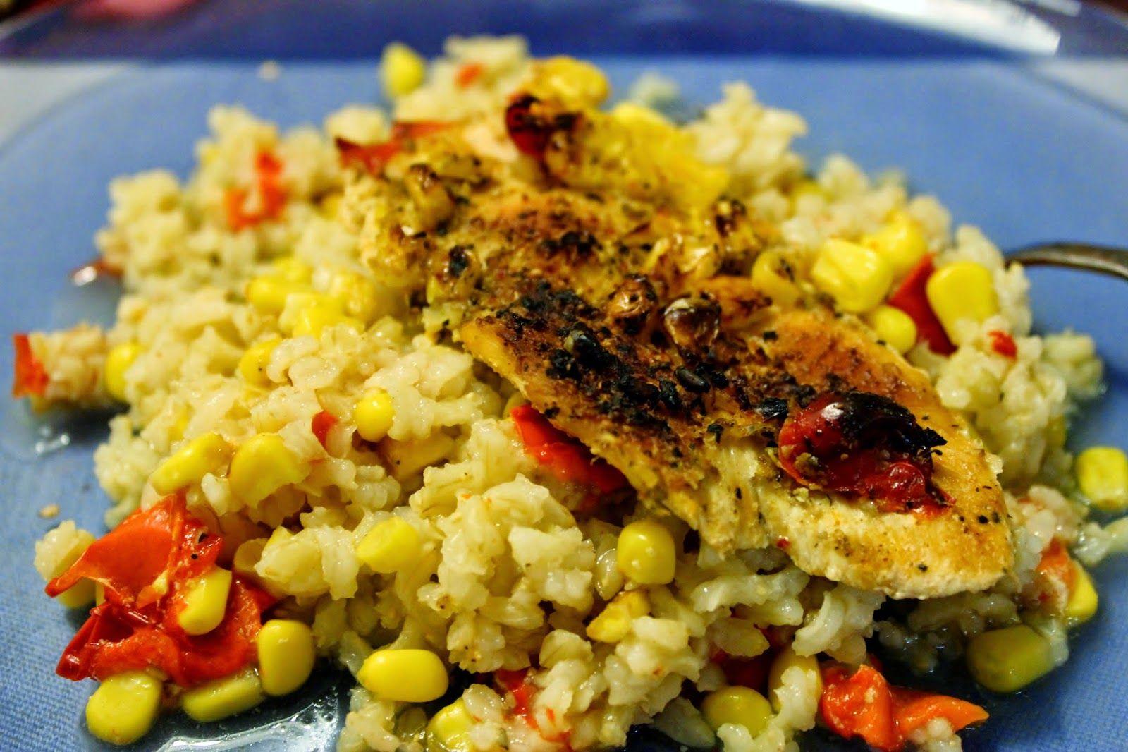 Kanaa ja riisiä uunissa – yhden vuoan ateria