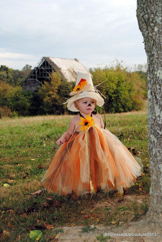 Scarecrow Tutu Dress - Wizard Of Oz Scarecrow - Tutu dress - scarecrow hat Halloween Costume for Baby - Scarecrow Costume - Halloween #scarecrowcostumediy