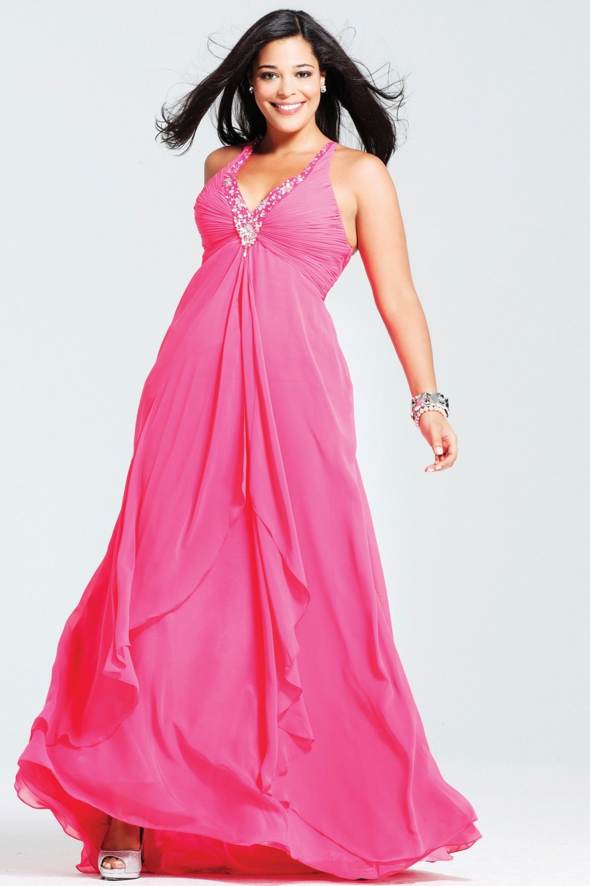 Plus Size Prom Dresses, 2012 Beautiful Empire Halter Top Neck Tea ...