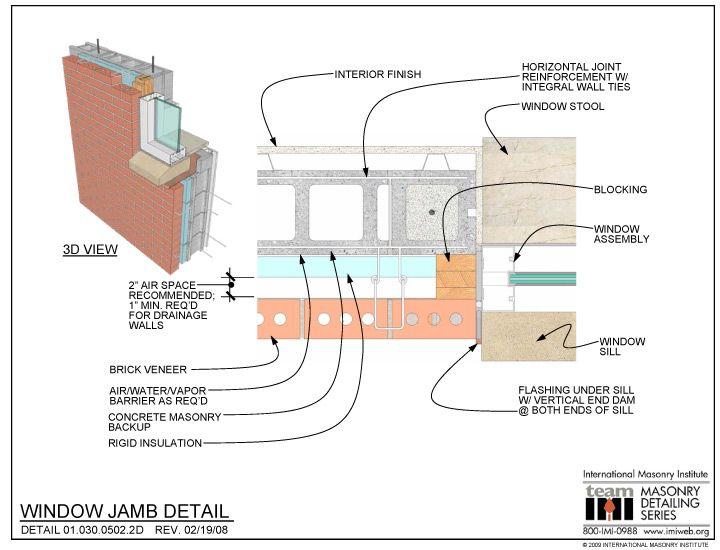 01 0301 030 0502 2d Window Jambs Amp Sills 2d Technical