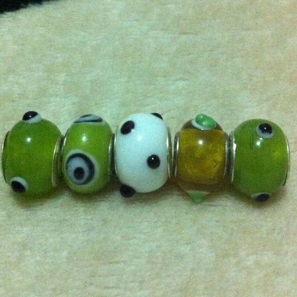 Murano glass bead fits pandora Compatible to pandora, camilia charm Jewelry Bracelets