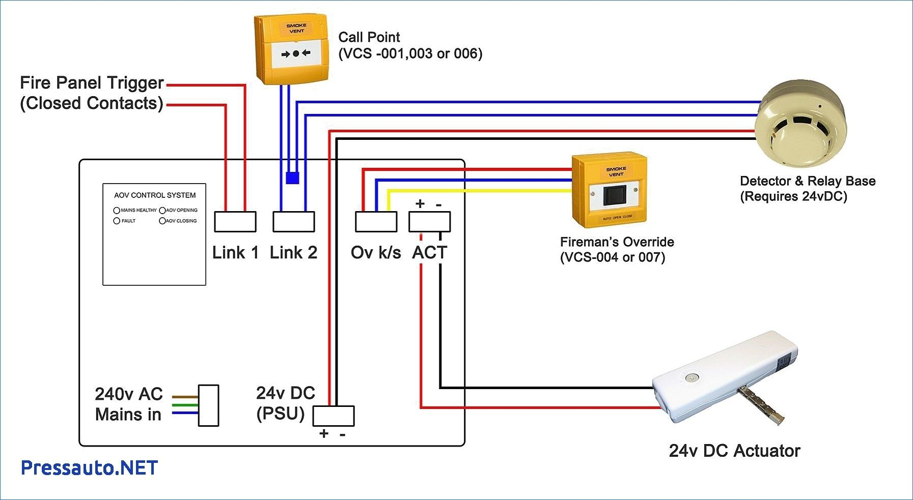 addressable smoke detector wiring diagram  smoke alarms