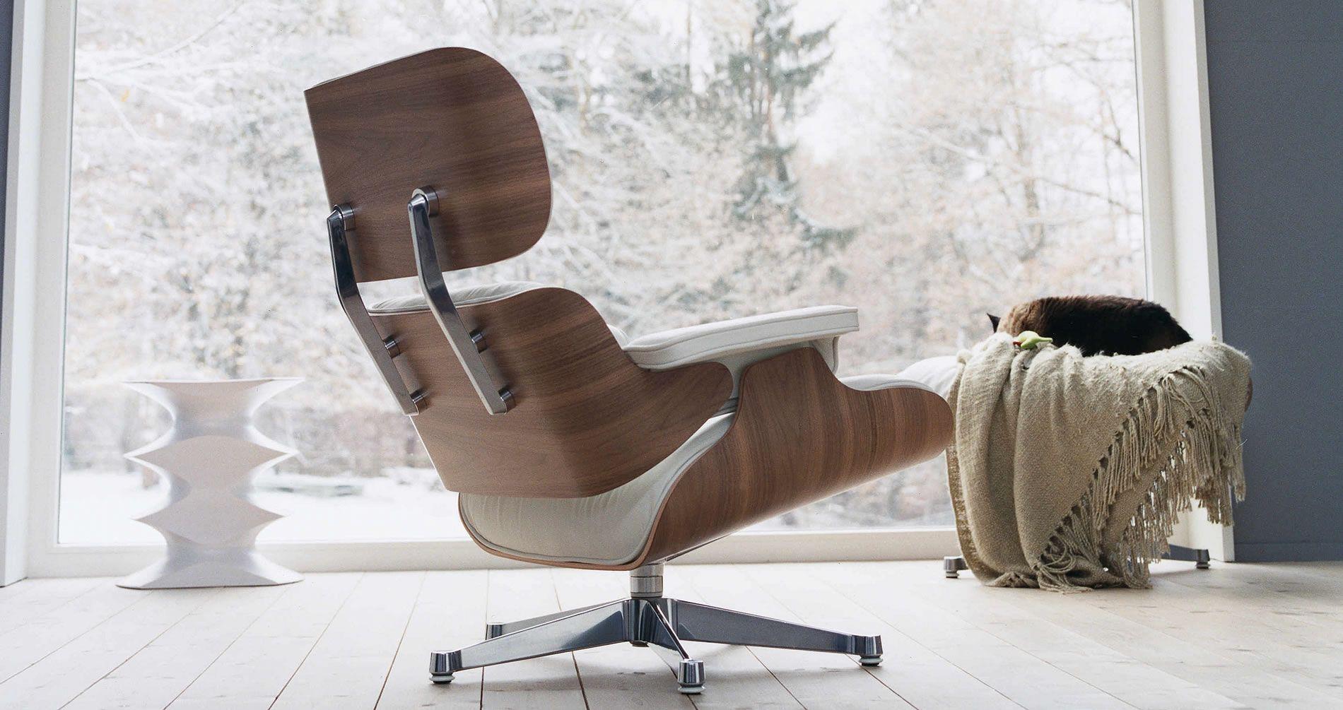Fplus lounge chair with ottoman. Eames Lounge Chair Vitra Arredamento Sedie Legno