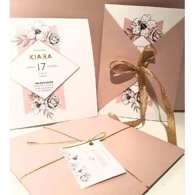 Invitaciones Rosa Vintage Tarjetas Boda 15 Años Casamiento #fiestade15años