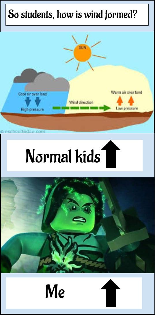 Me At School Cuz I Think A Bout Ninjago Literally All Day Ninjago Memes Lego Ninjago Ninjago