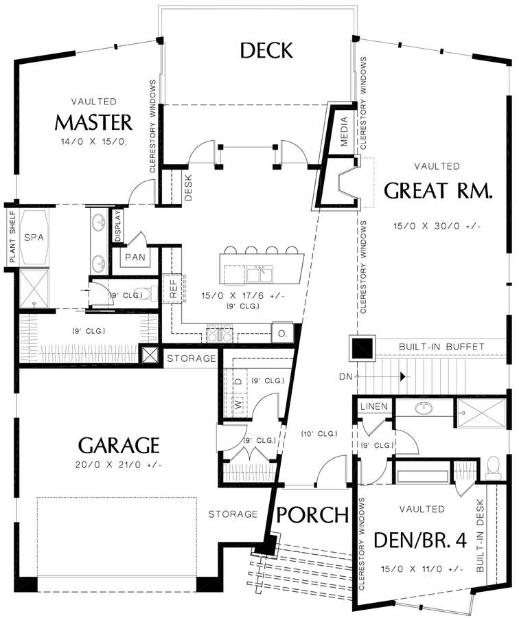 Contemporary Layout Timeless Elegance Plan 1330 The Cormac is a