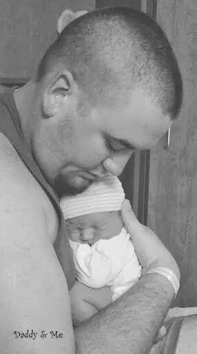 Daddy & Baby's first photo session in the Hospital