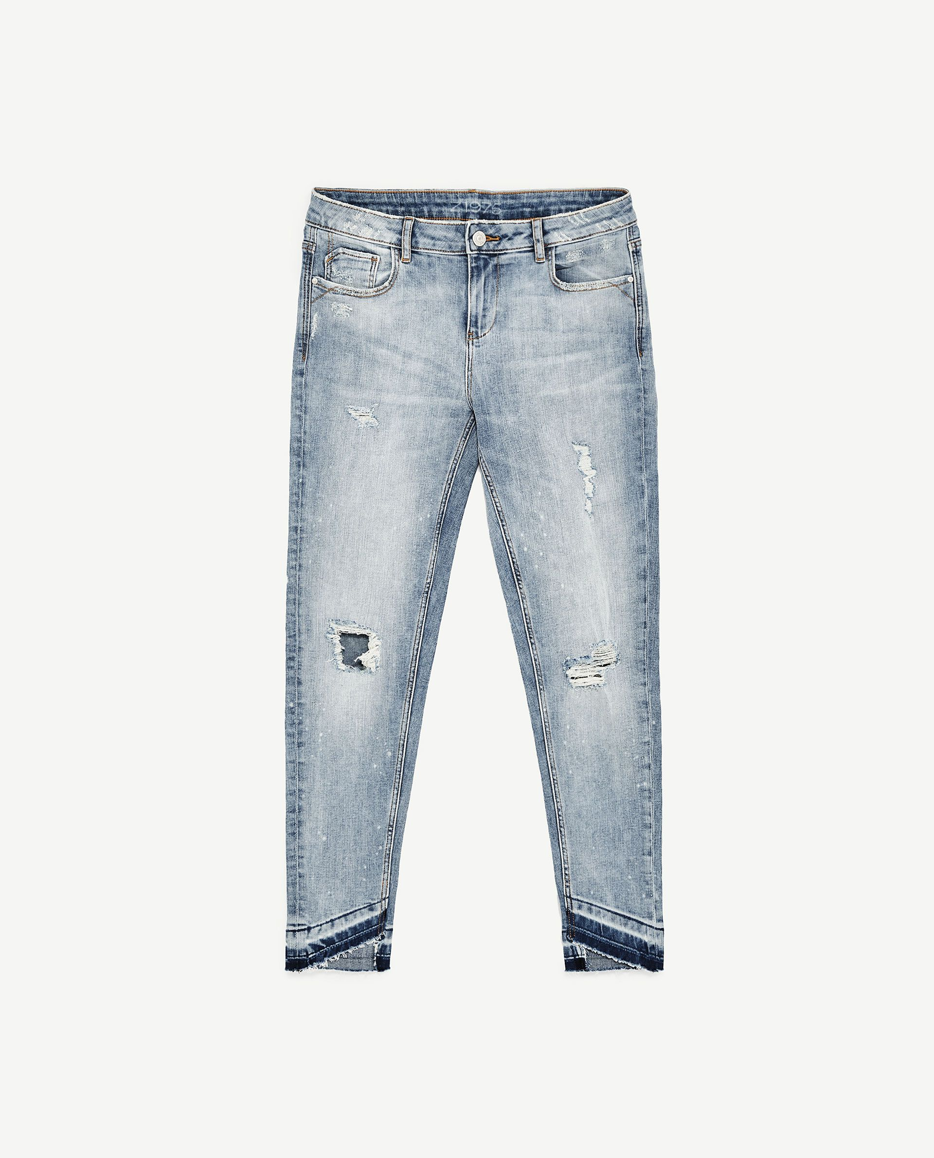 9fc47c4c MID-RISE JEANS WITH UNEVEN HEM from Zara | Development 18 | Jeans ...