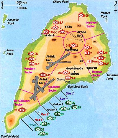 Iwo Jima Map on