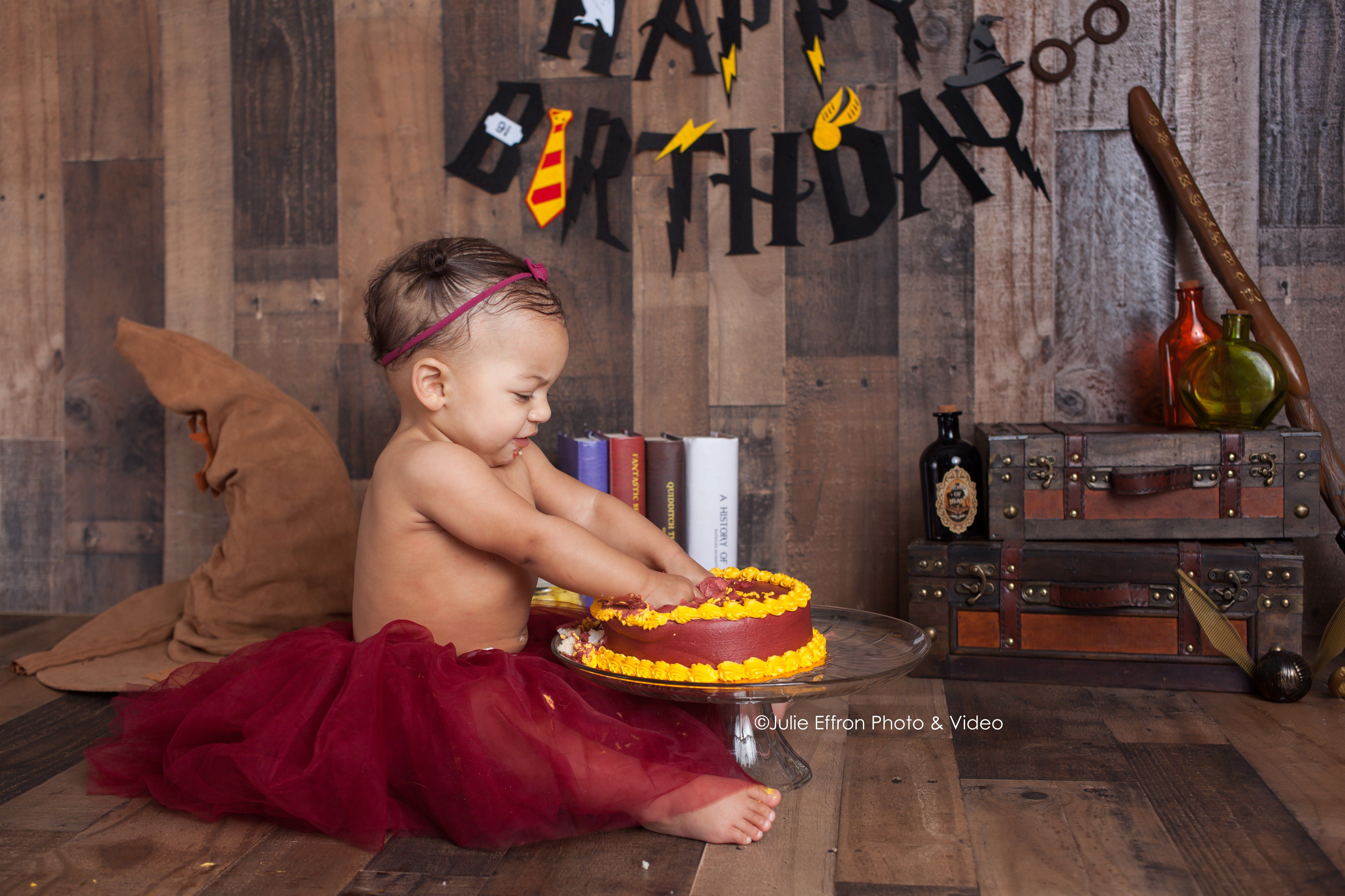 1st birthday cake smash harry potter theme (With images