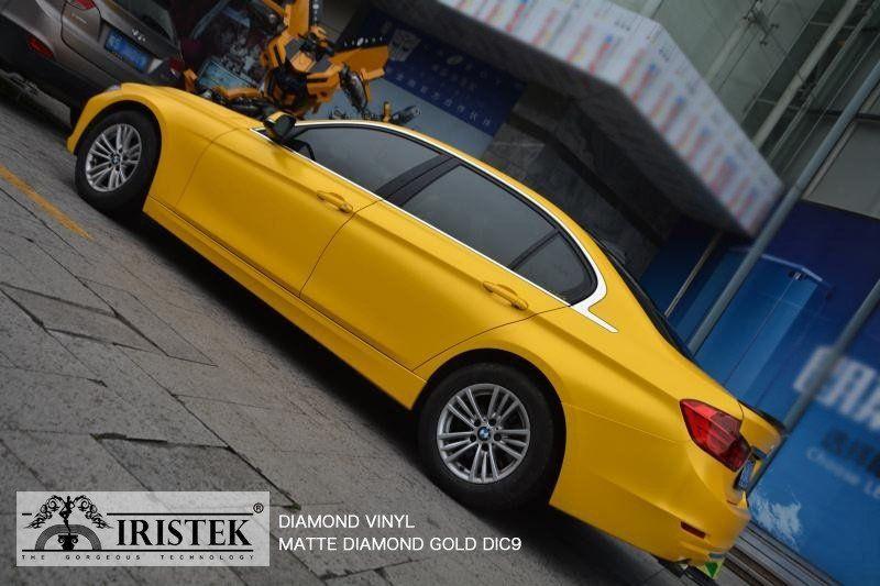 Diamond Vinyl_Model:DIC9 Color:Matte Diamond Gold IRISTEK