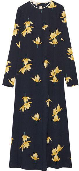 Printed Crepe Maxi Dress - Blue Marni VPPgdTeS
