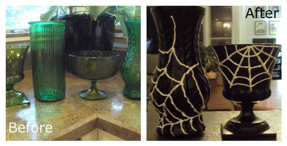 Rummage Sale Vase to Halloween Decor DIY Halloween Pinterest