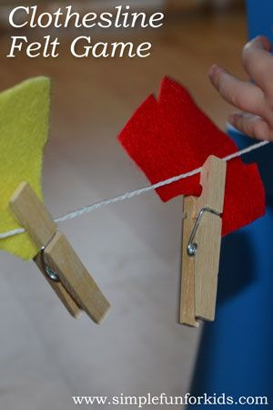 The Kids Clothesline Clothesline Felt Game  Gaming Activities And Motor Activities