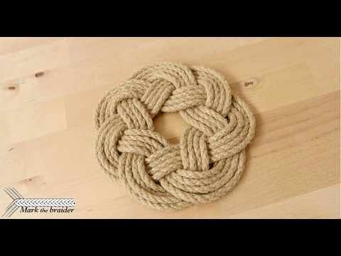Round Rope Mat Rope Hot Pad Youtube Home Decor