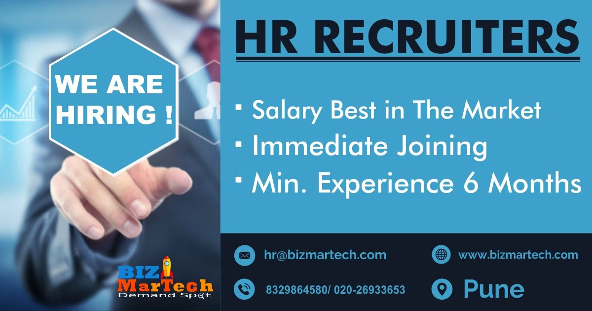 Greetings From The Bizmartech We Are Hiring For Hr Recruiters For More Info Call On 9309543879 8329864580 Drop Your Cv At We Are Hiring Find A Job Job
