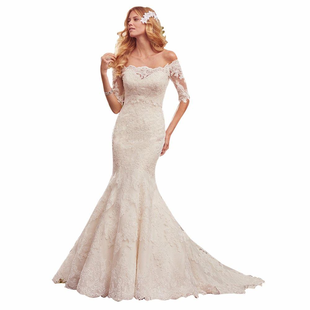 Wedding dress with bow on back  ZYLLGF Bridal Mermaid Sweetheart Vestidos De Novia  Corset Back