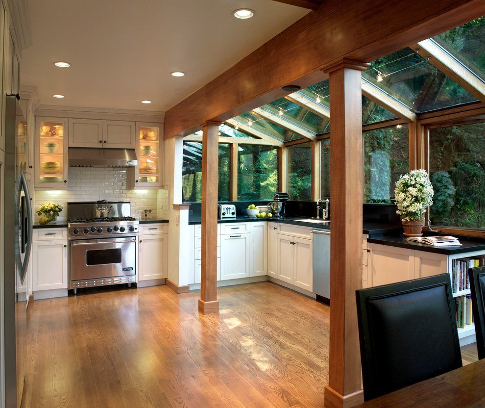 Bump Out Addition: Kitchen Bump Out Kitchen Traditional With Black Dining