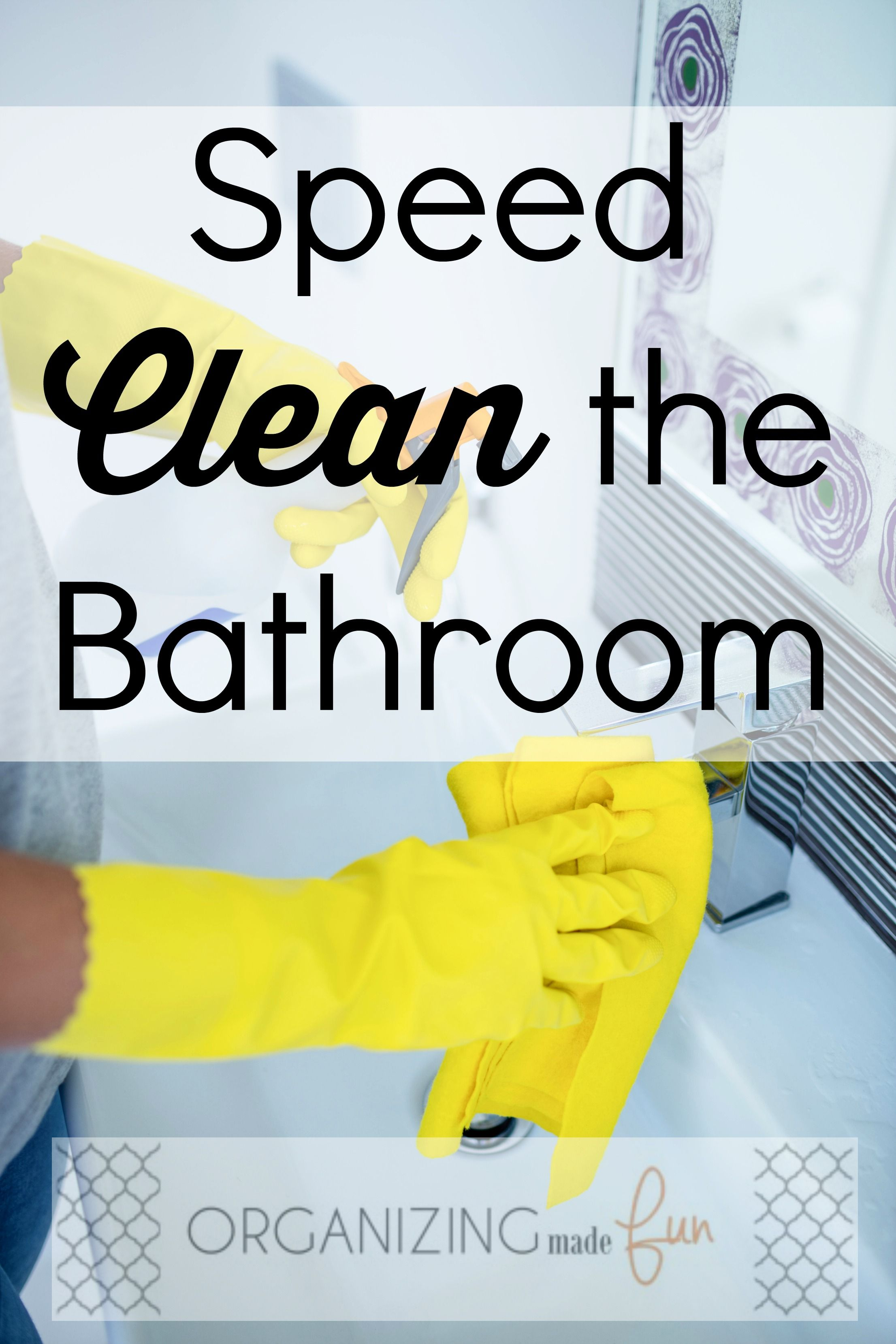 Simple And Easy Tips For Doing Up Your Bathroom: Speed Clean The Bathroom