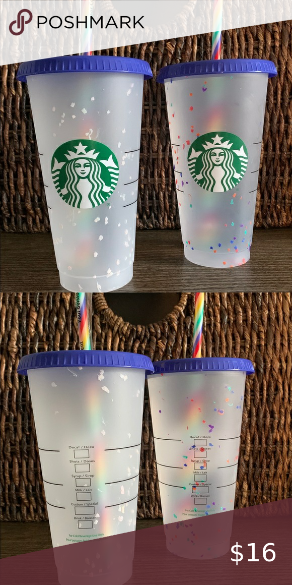 Starbucks 🌈 Confetti Color Changing  Cup