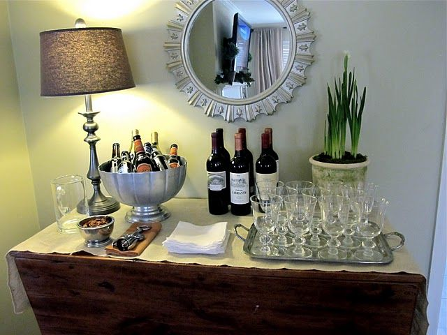 How To Set Up A Bar For A Party Without Having An Actual Bar The
