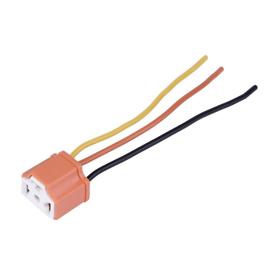 New H4 9003 Car Truck Female Ceramic Headlight Extension Connector Plug Light Lamp Bulb Wire Socket Car Headlights Electronic Accessories Electronics Workshop