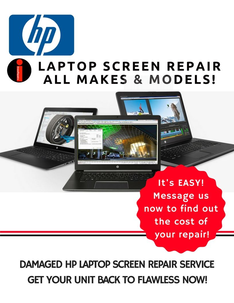HP Laptop Screen Replacement Service! No need to suffer