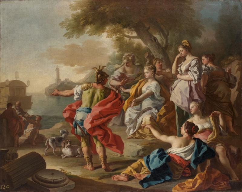 Francesco de Mura (Naples, 1696 - 1782),Enée quittant Didon.Photo Artcurial - Briest-Poulain-F.Tajan