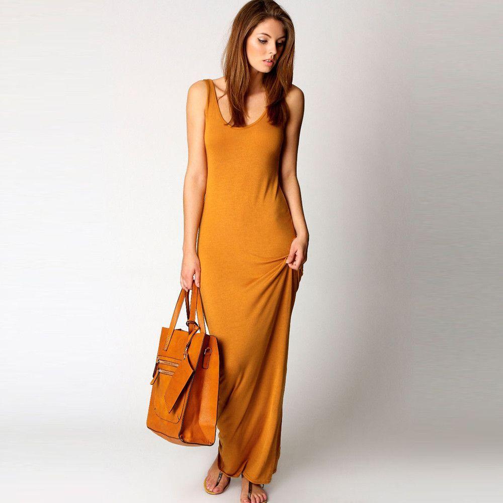 Sexy maxi o neck sleeveless dress style pinterest dresses