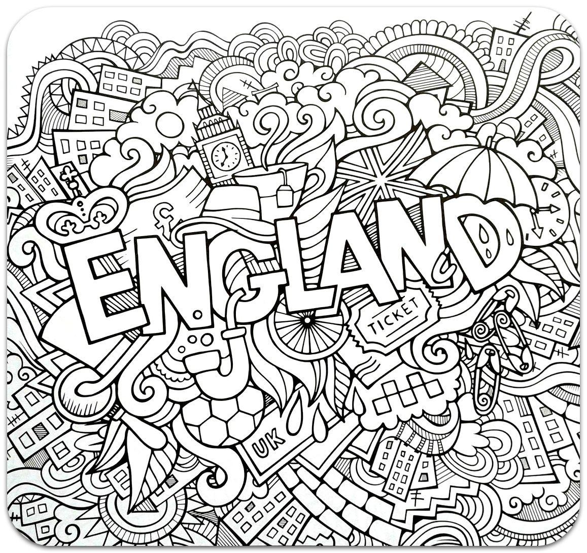 Розмальовки-антистрес. Країни (частина 1) (с изображениями ...