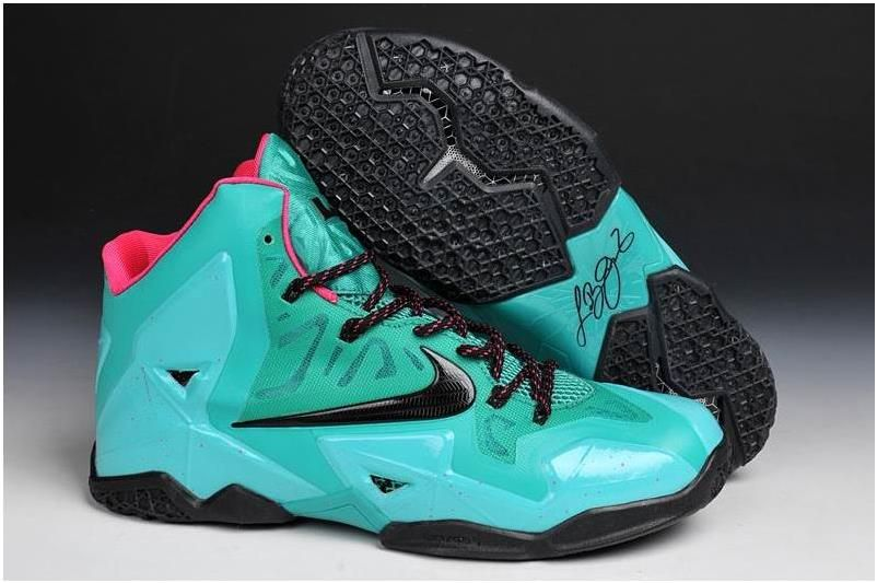 reputable site cb8a9 2852b Lebrons 11 James Shoes Green Red Black | Lebron 11 Mens for ...