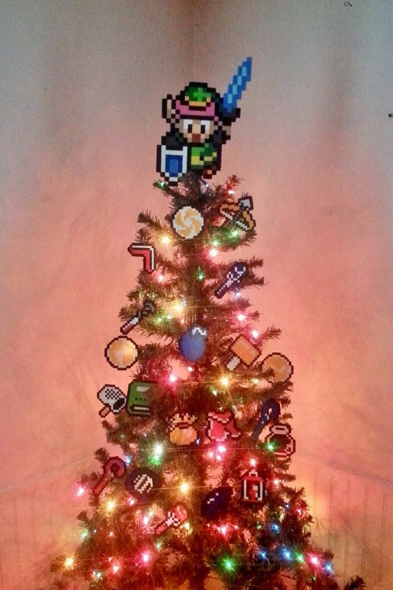 Legend Of Zelda A Link To The Past Christmas Tree By Lightercases Ornament Set Christmas Tree Toppers Christmas Tree